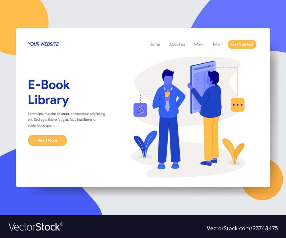 E-book library concept