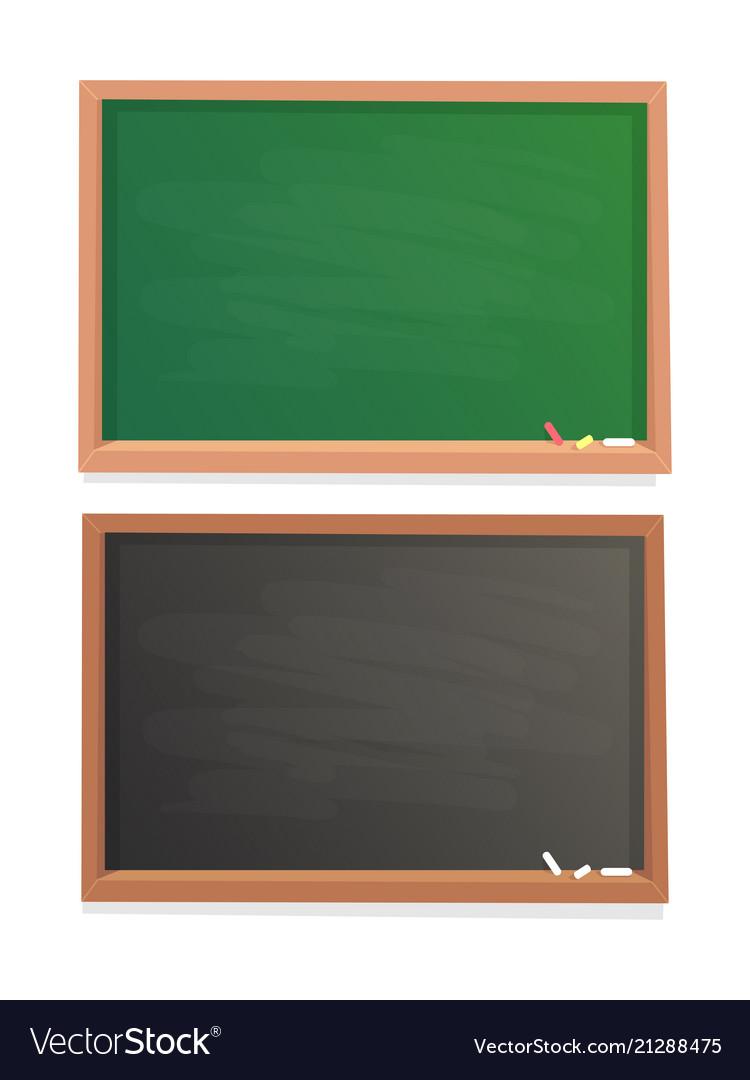 Empty school chalkboard black and green chalk