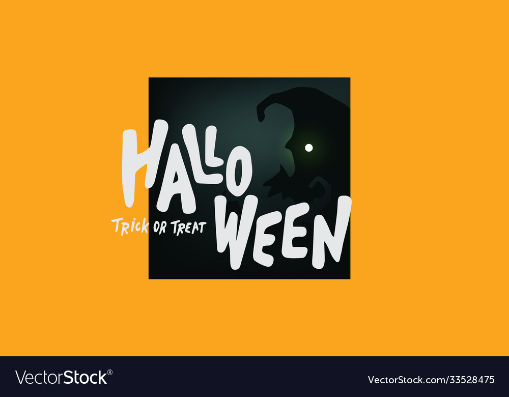 Happy halloween text banner trick or treat
