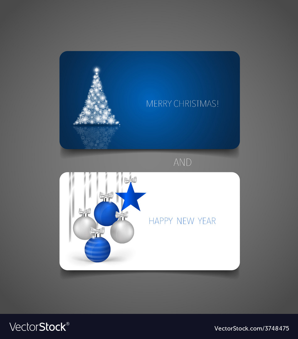 Holiday Gift Coupons With Christmas Tree And Vector Image