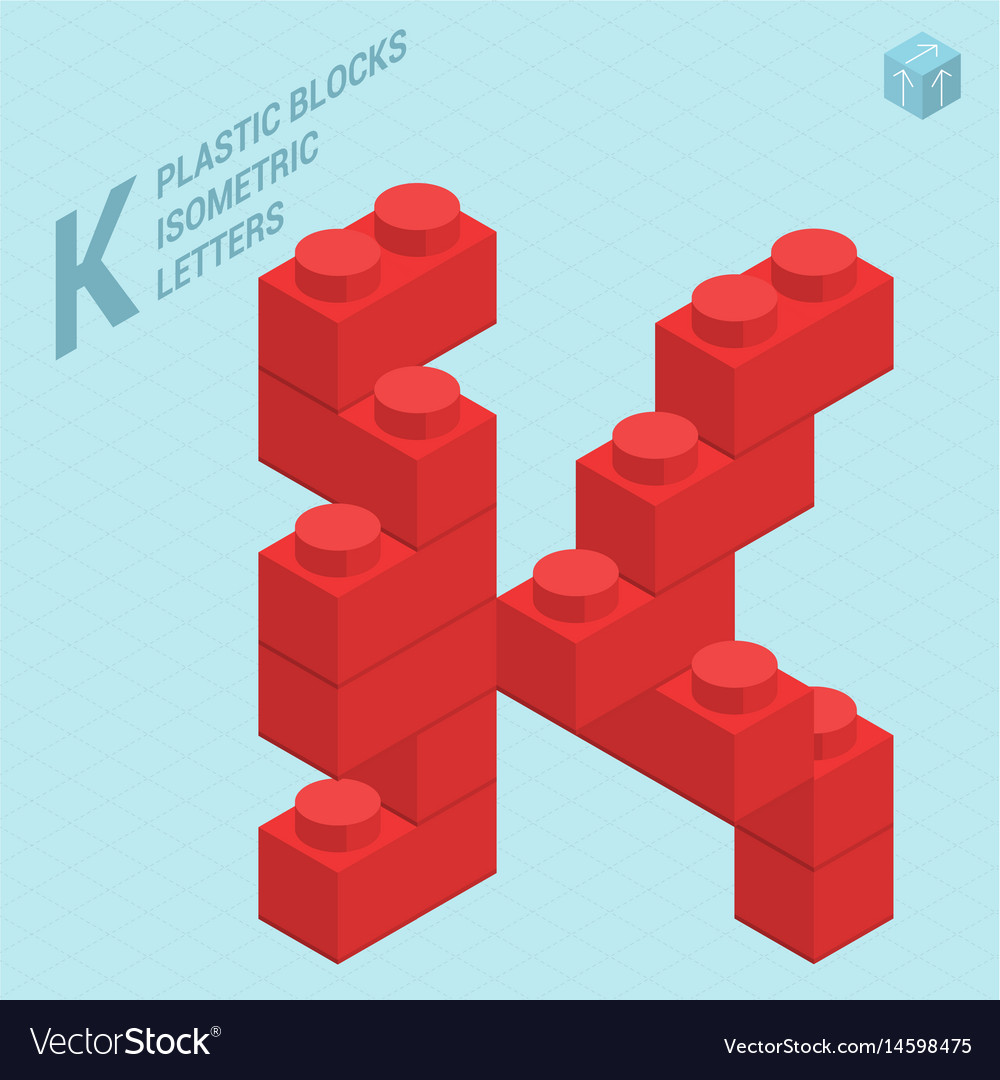 Plastic blocs letter j