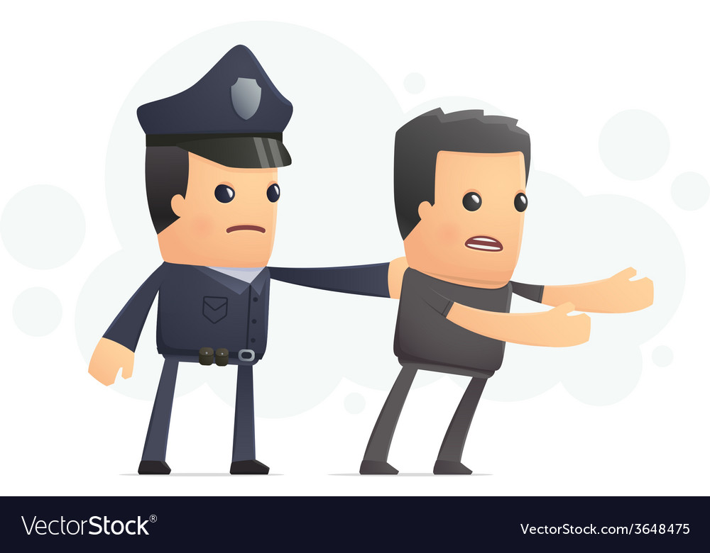Police catch a cheater vector image