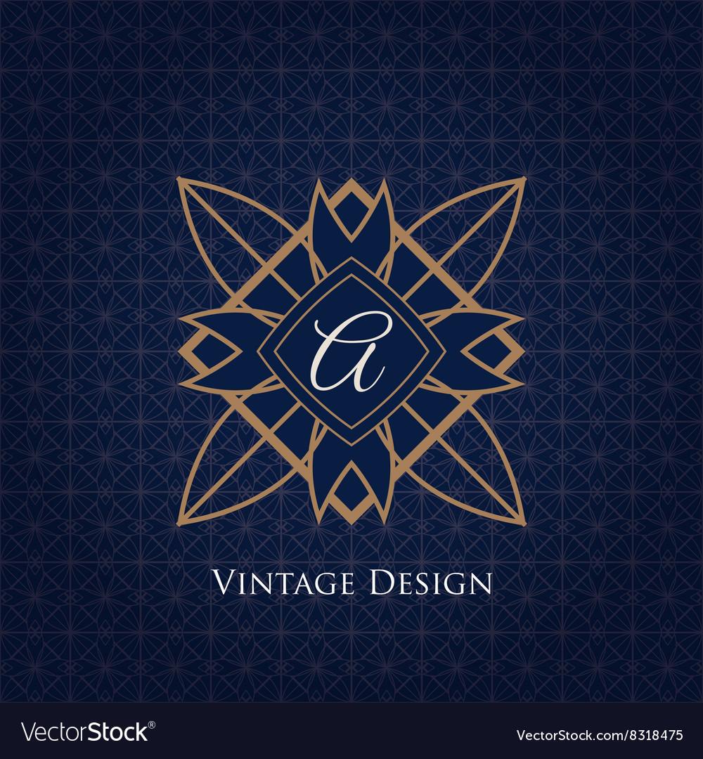 Simple and elegant monogram design template