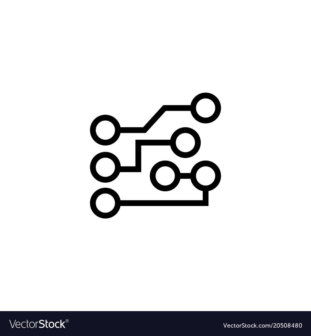 circuit board flat icon royalty free vector image rh vectorstock com vector computer circuit board circuit board vector background