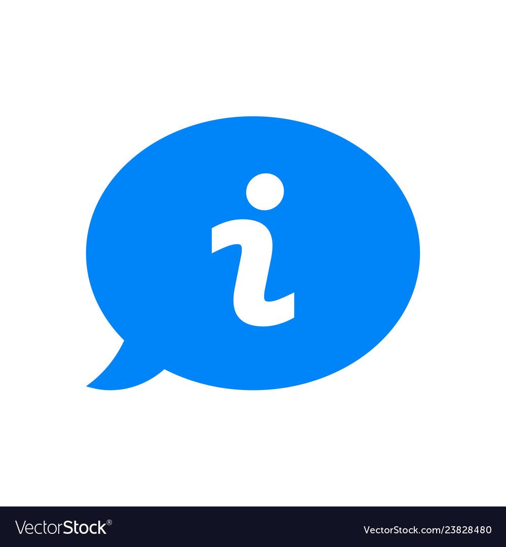 I question mark in blue ask dialog bubble faq