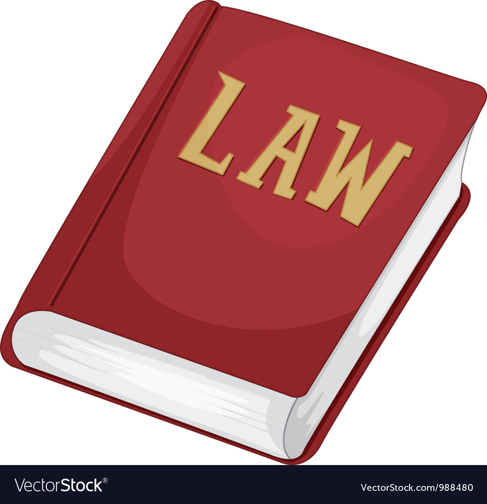 Law book vector image