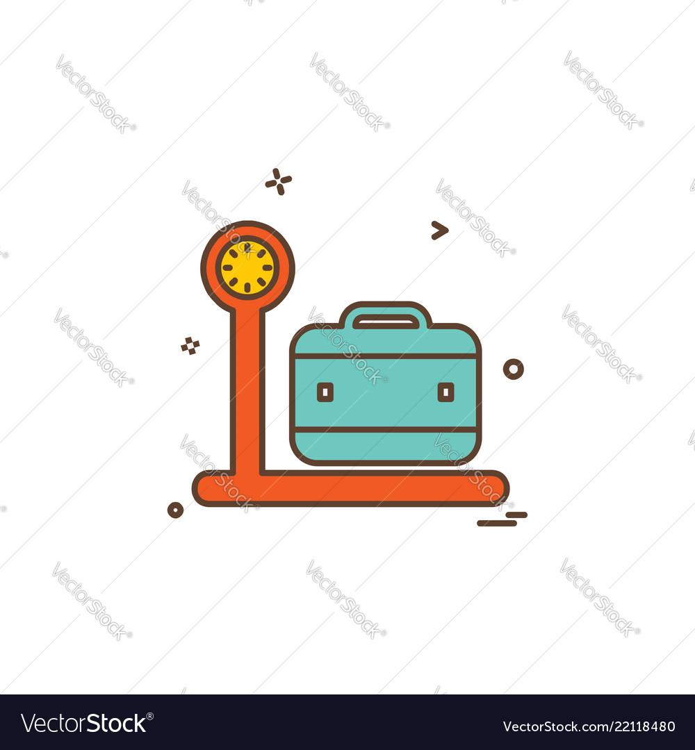 Luggage icon design