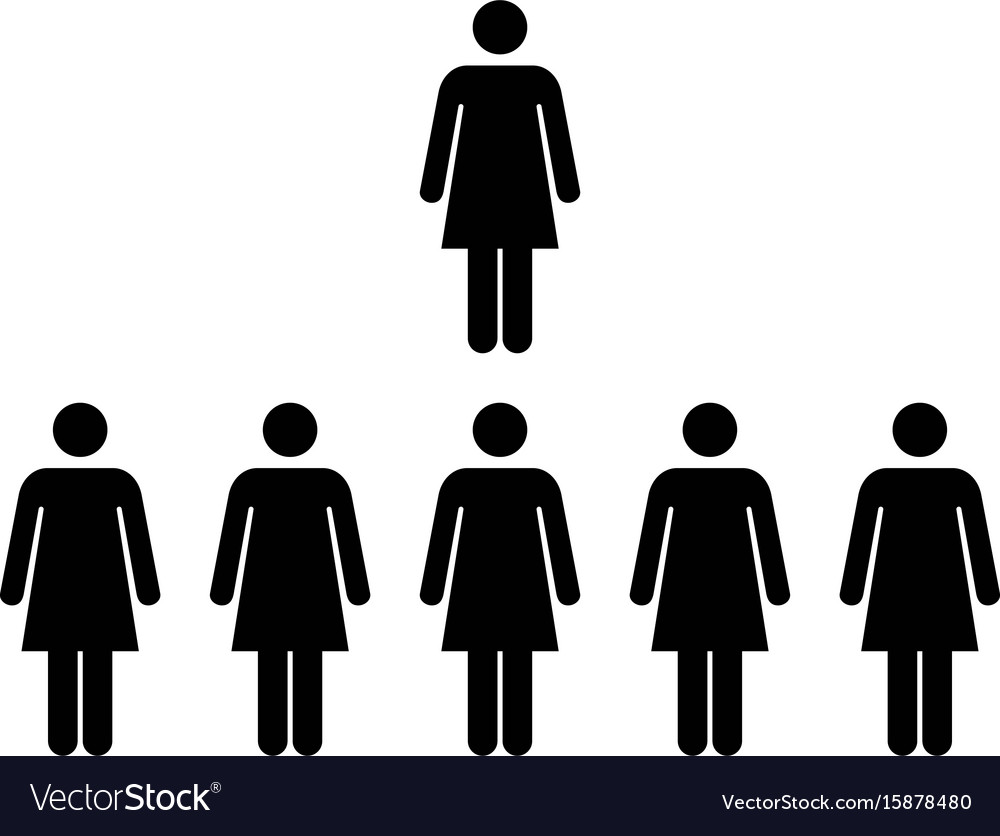 People icon - group of women team pictogram symbol