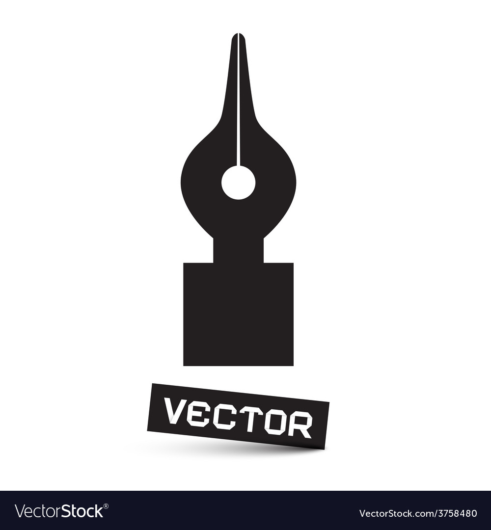 Symbol - Black Pen Icon Isolated on White