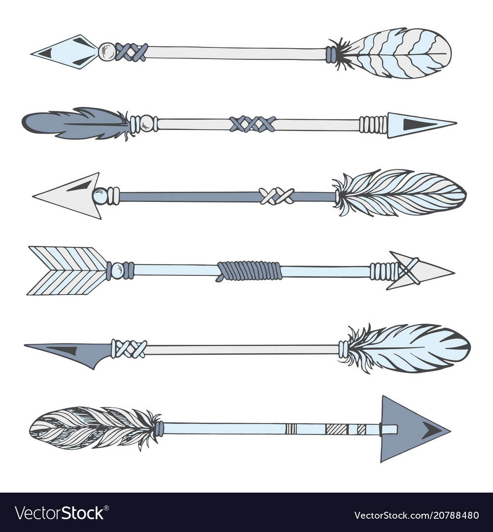 Tribal indian arrow set