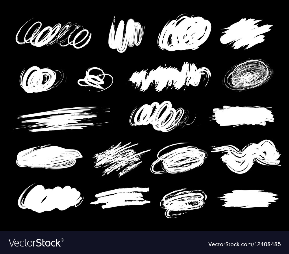 Blot spot black inversion vector image