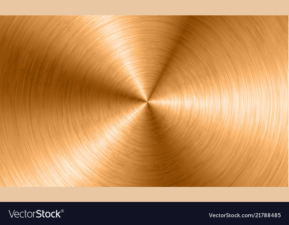 Bronze metal background with realistic circular