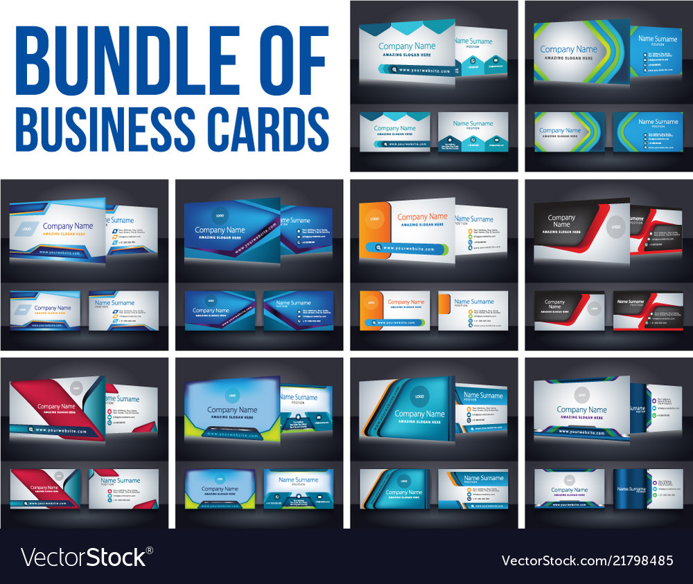 Bundel of corporate business card template