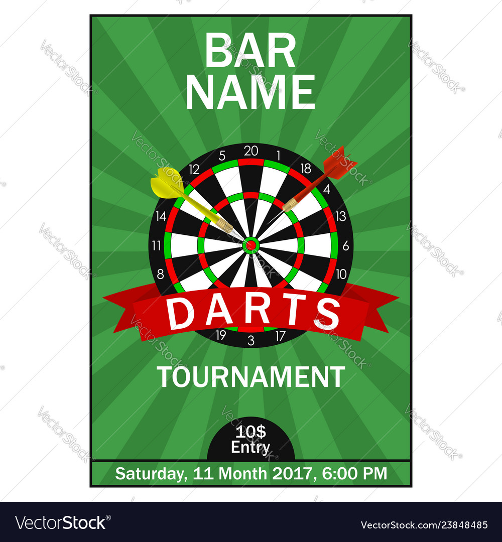 Darts tournament poster
