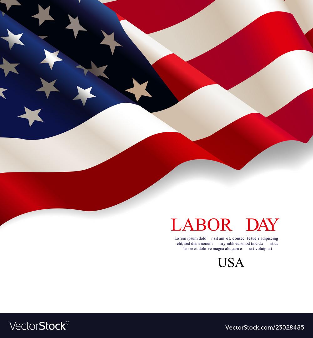 Labor day flag usa