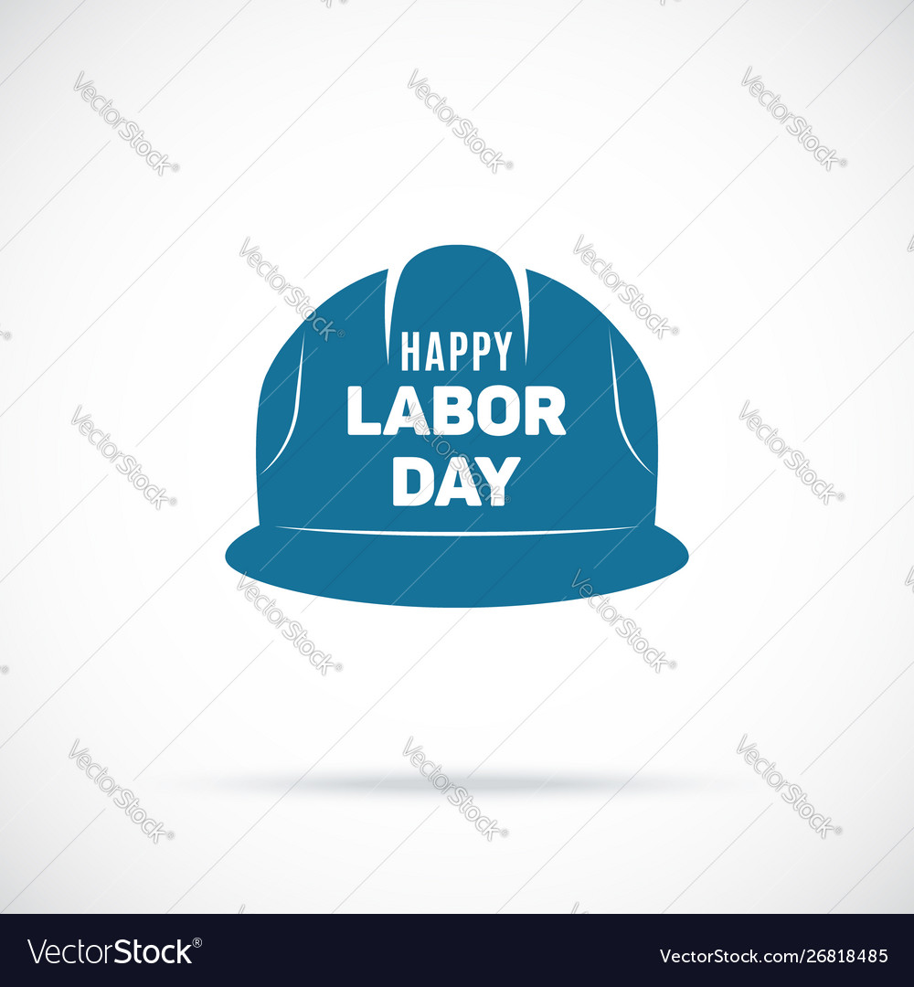 Labor day symbol safety helmet icon tribute