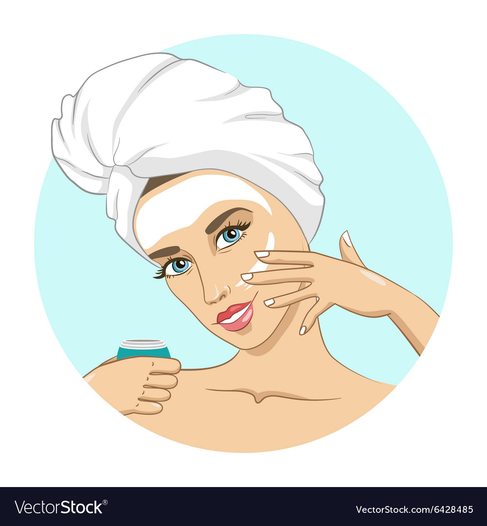Mask for the face vector image