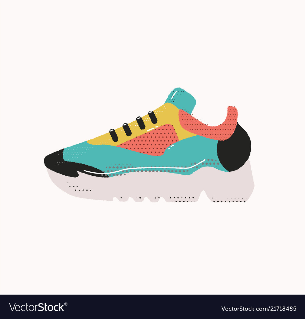 Modern sneakers isolated on white ranning shoe