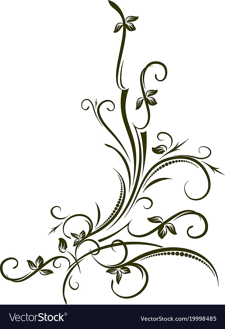 Ornamental floral corner for your vector image