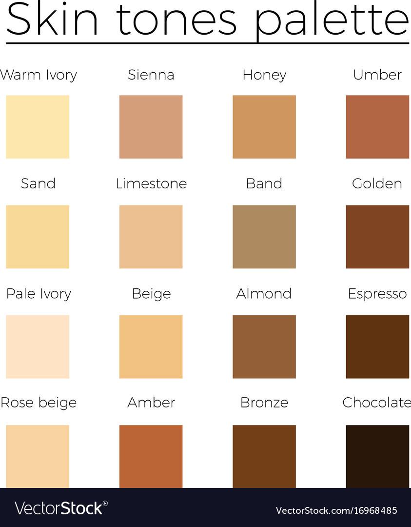Skin Tone Color Chart Heartpulsar