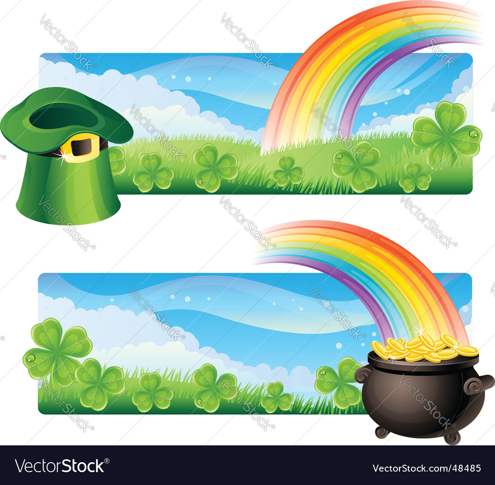 St. Patrick's banners vector image