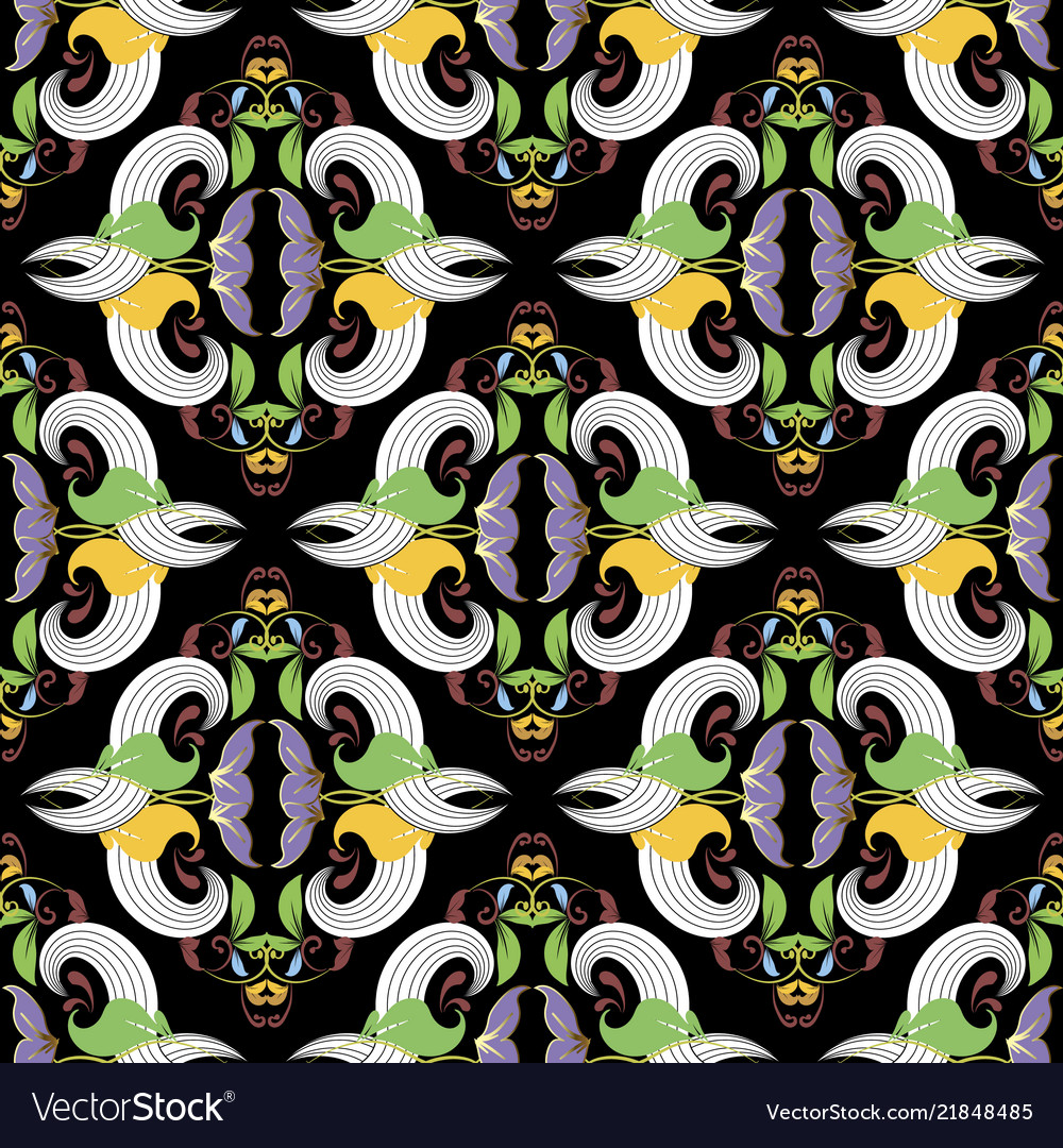 Vintage elegance floral seamless pattern