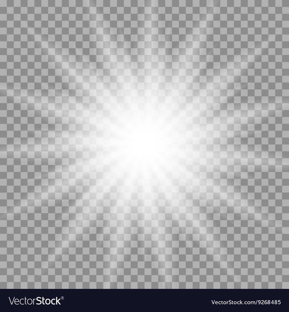 White glowing iridescent light effect star design