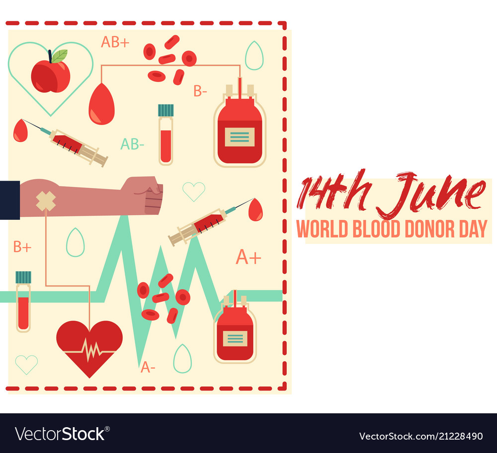 14th june donor blood day with