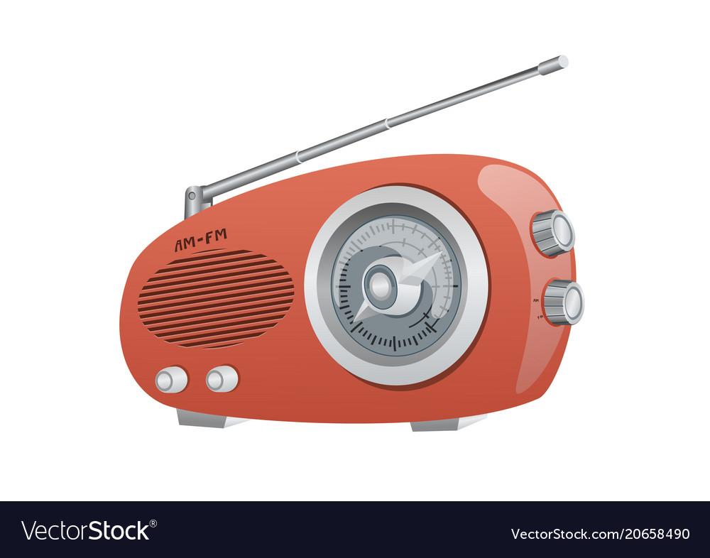A vintage am fm radio