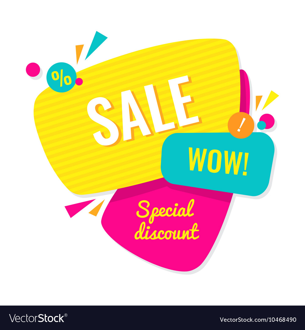 Advertising banner Sale wow Special discount