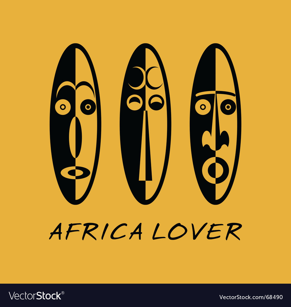 African lover vector image