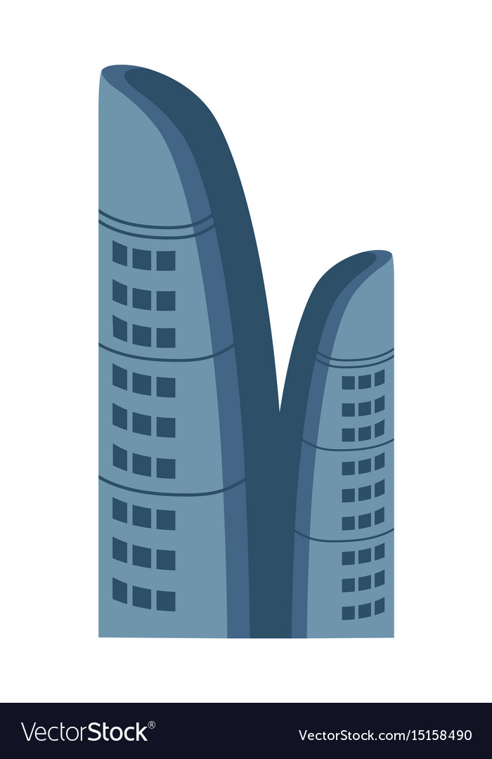 Business centre isolated icon