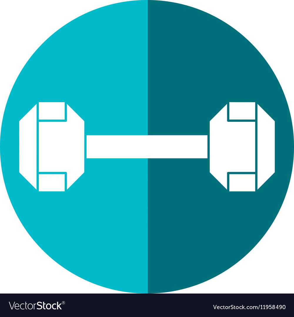 Dumbbell weight fitness gym icon shadow