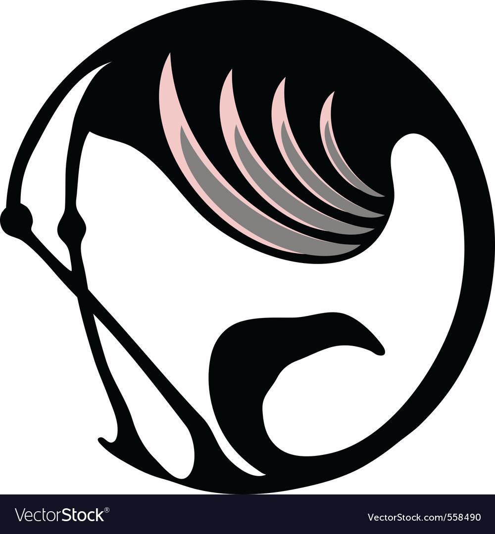 Flamingo symbol vector image