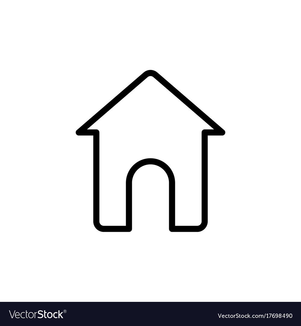 Thin line home house icon Royalty Free Vector Image