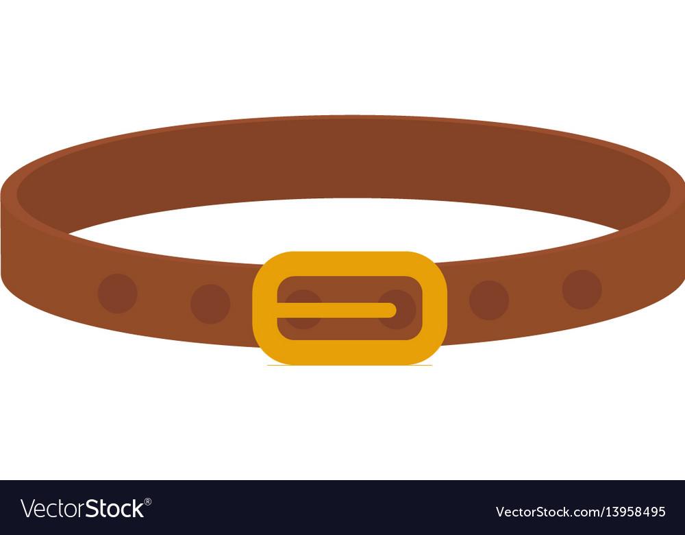 Collar for animals icon flat cartoon style vector image