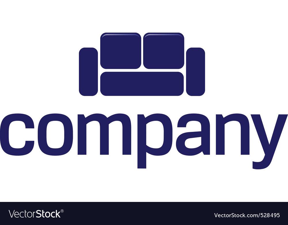 Sofa Logo Furniture Company Royalty Free Vector Image