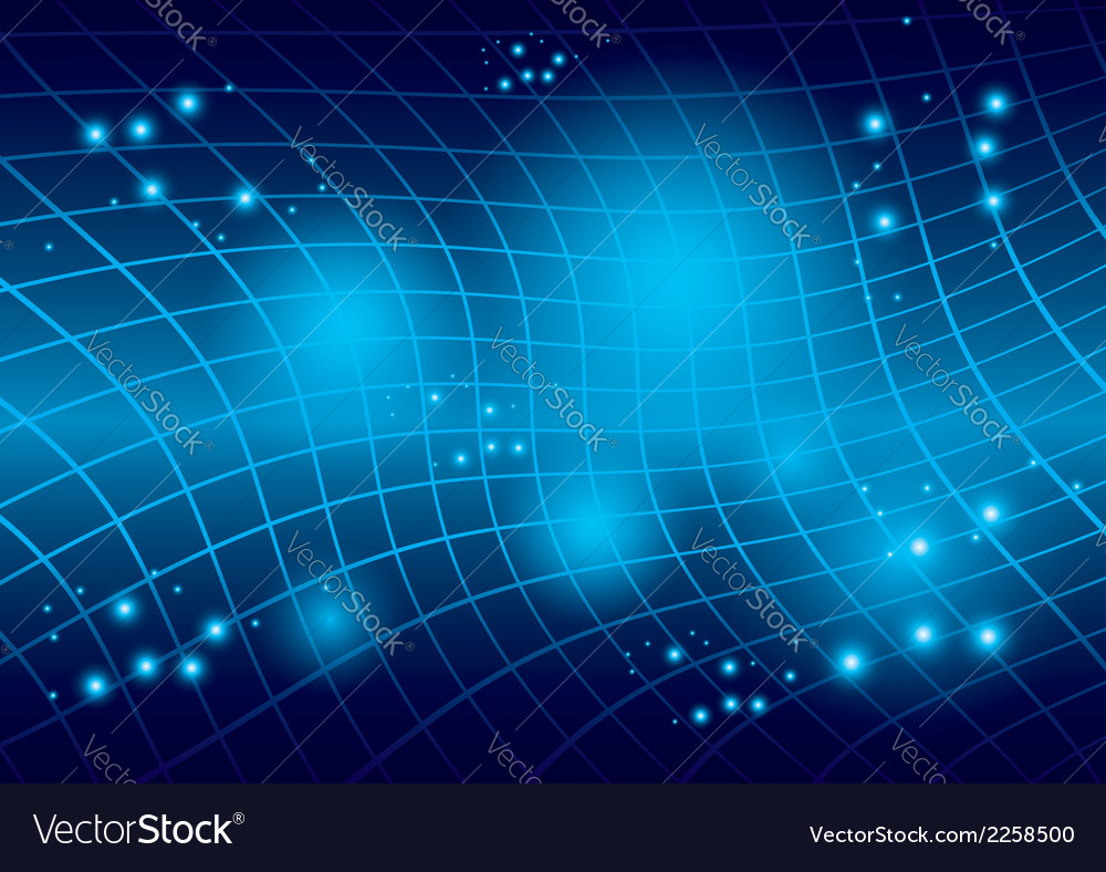 Abstract blue warped background