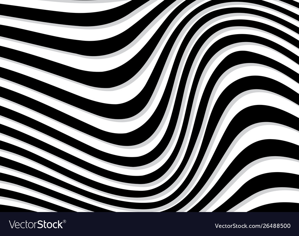 Abstract rippled or black wave lines pattern on