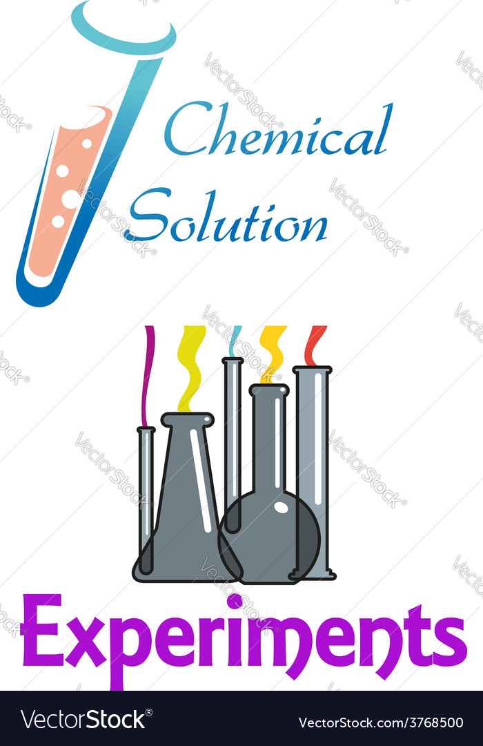 Chemical flasks and test tubes logo