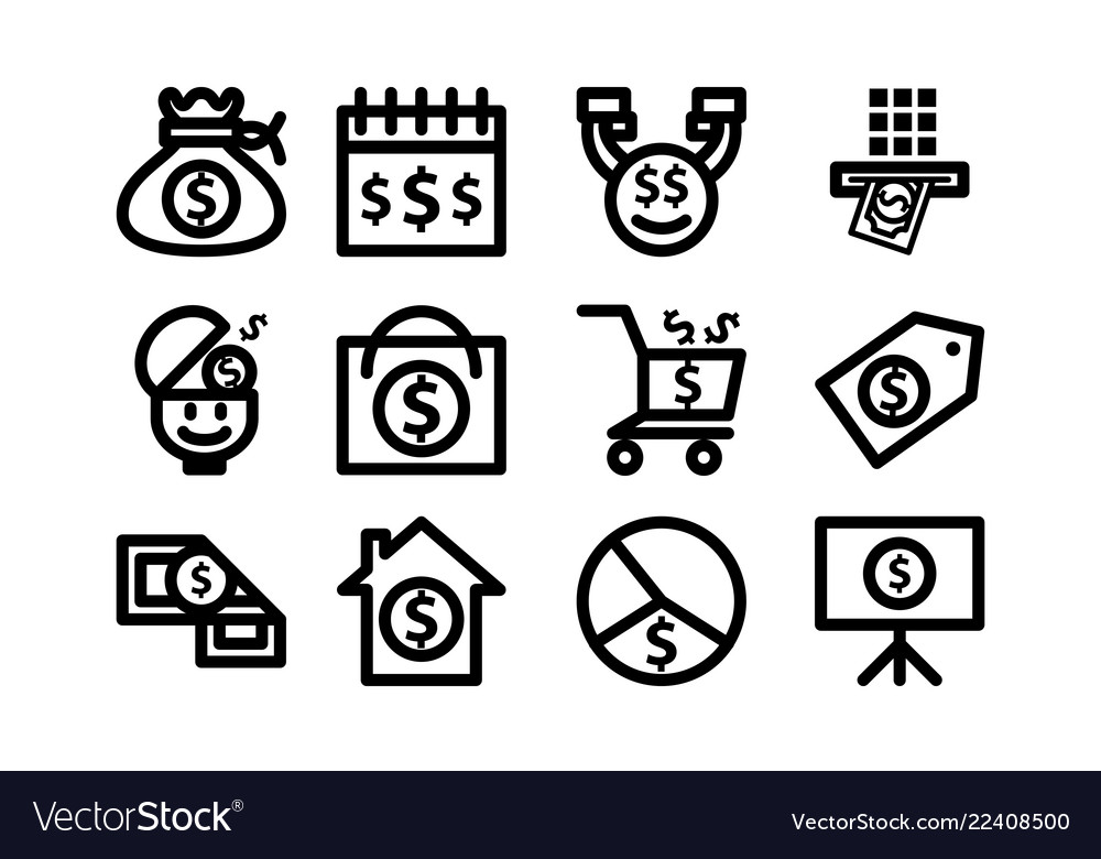 Money template icon set