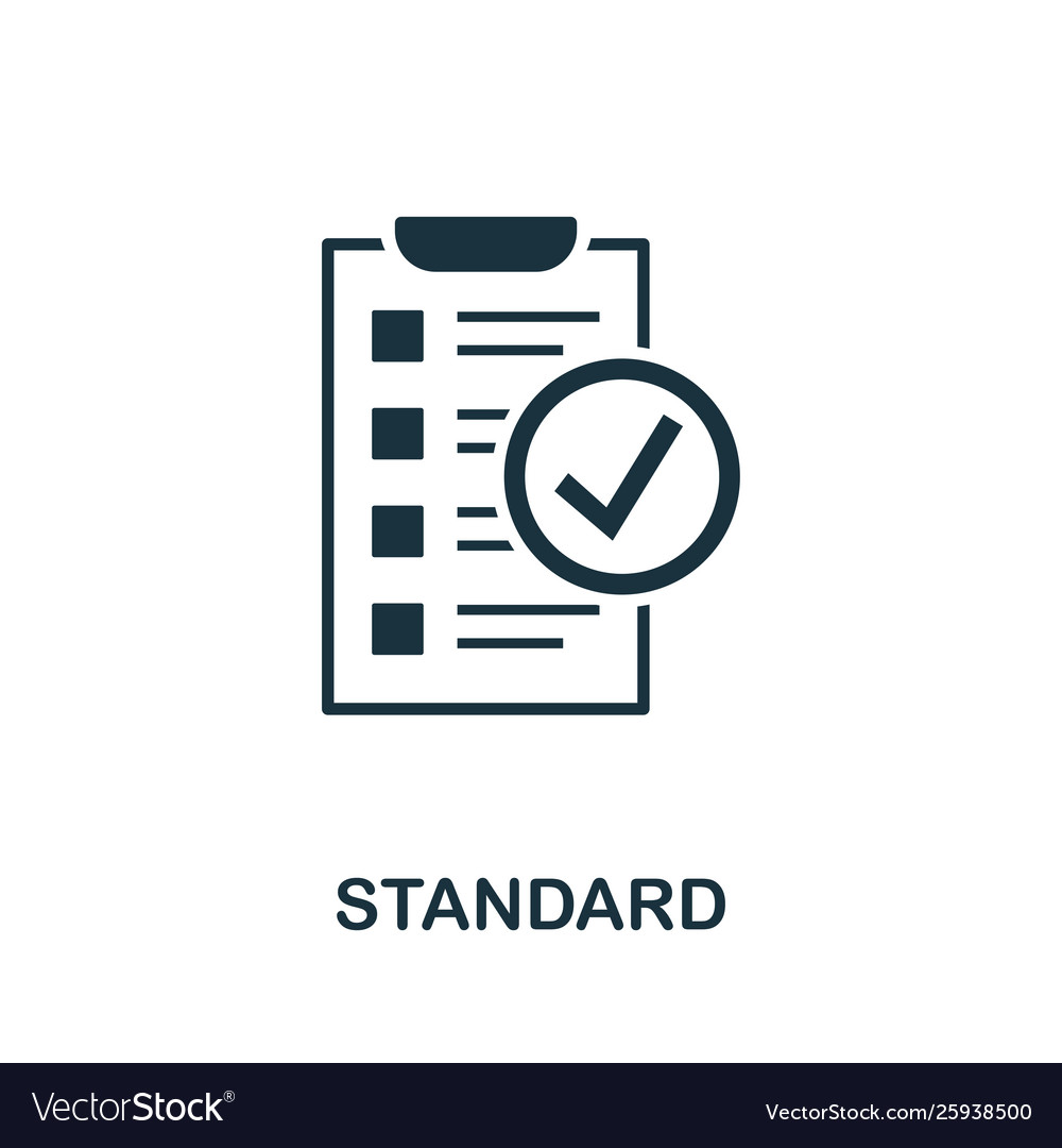 Standard Icon Symbol Creative Sign From Royalty Free Vector