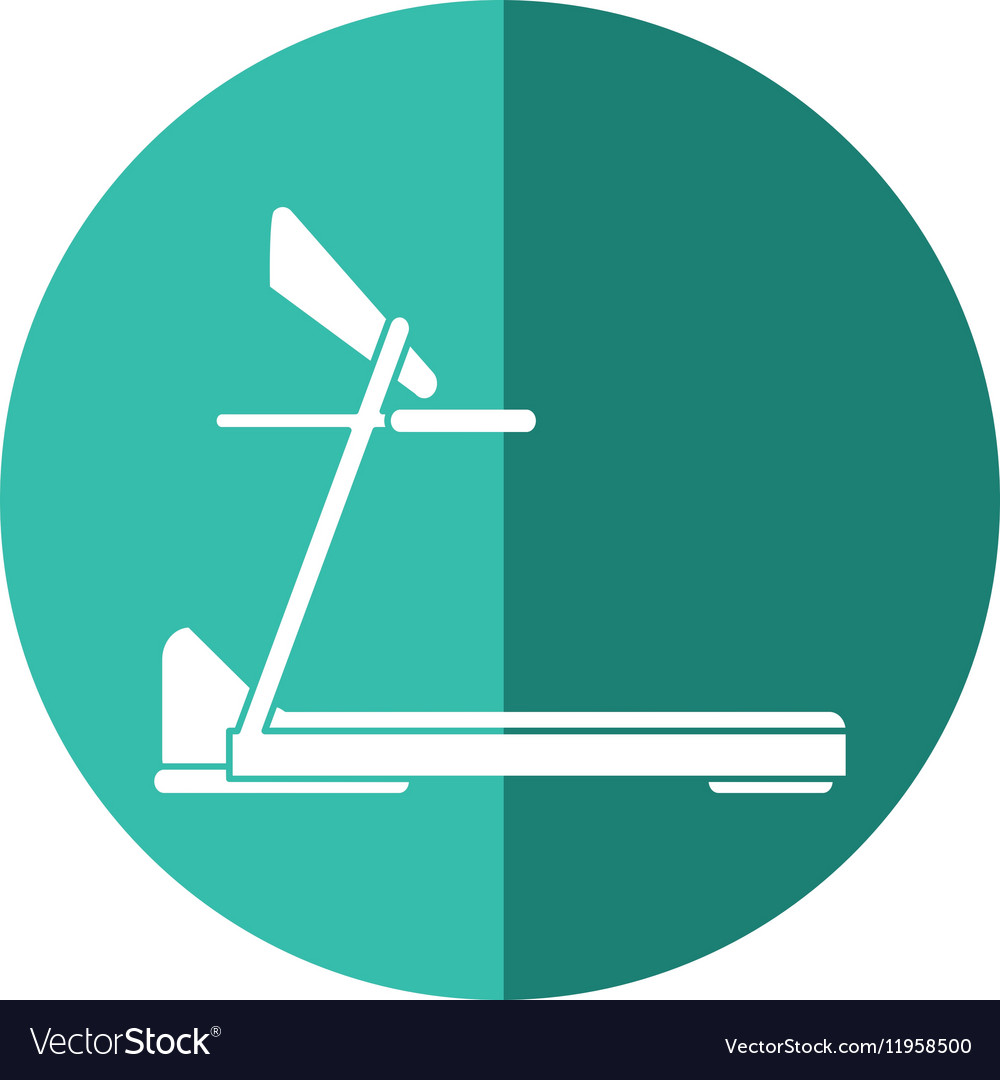 Treadmill machine sport fitness shadow vector image