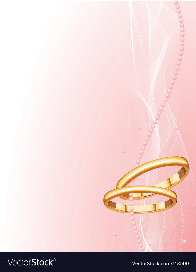 Wedding rings background Royalty Free Vector Image