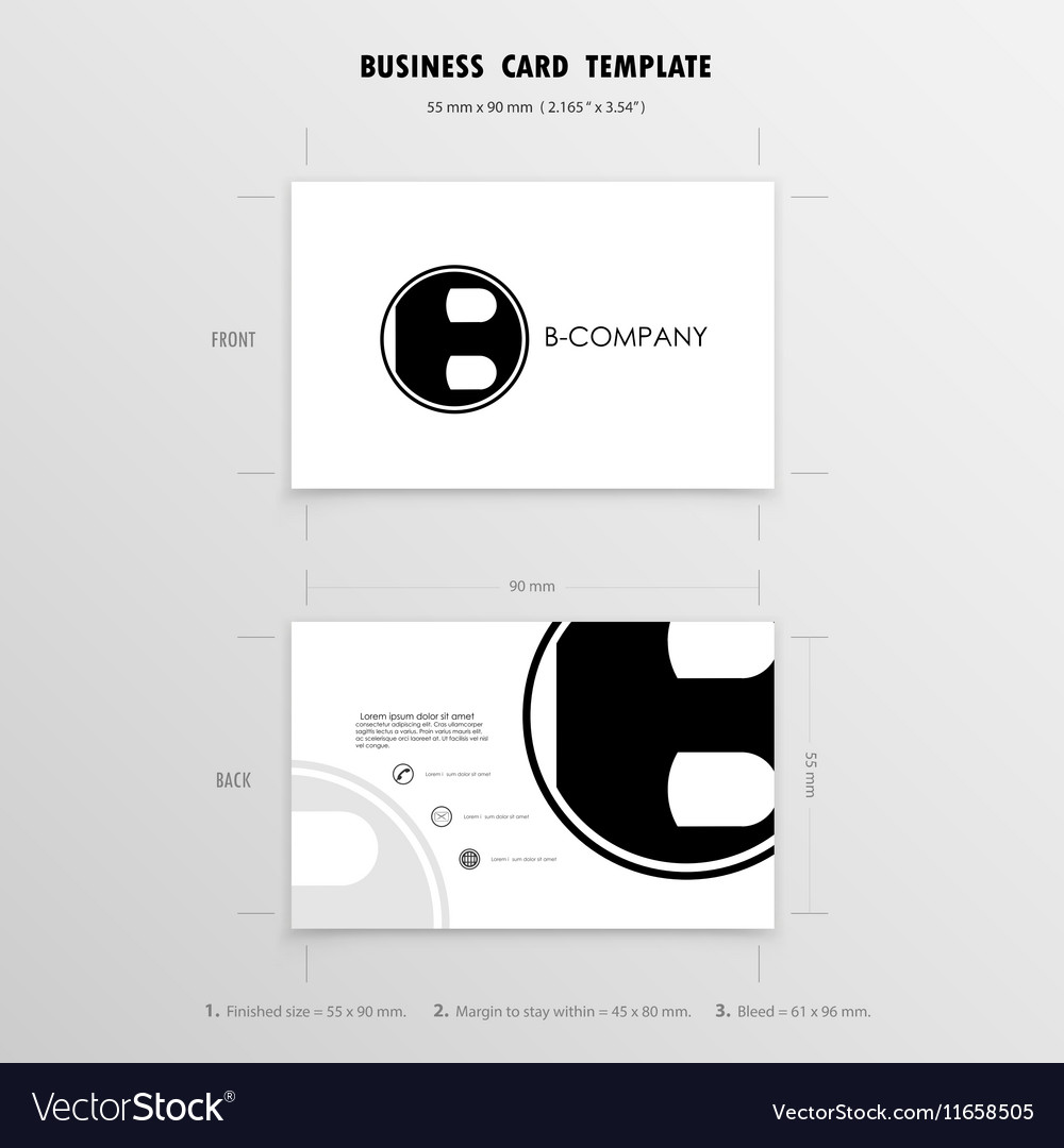 Business cards design template royalty free vector image business cards design template vector image colourmoves