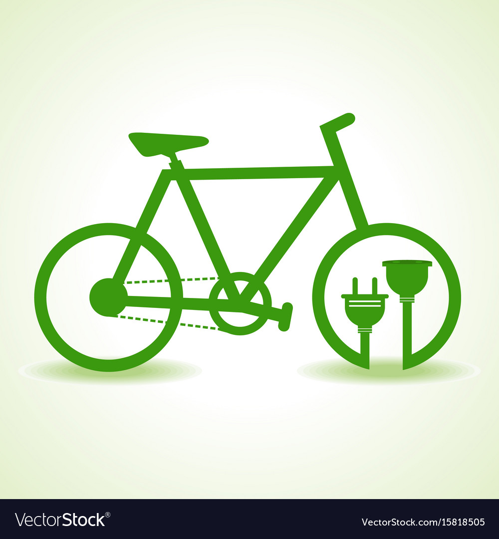 Eco bicycle with plug and holder stock