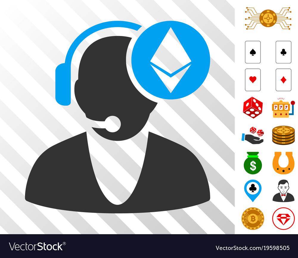 Ethereum operator icon with bonus