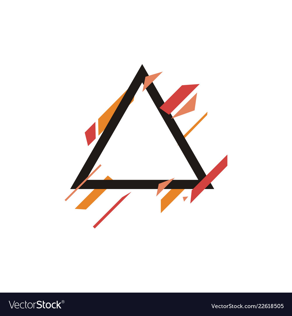 Geometric banner shape