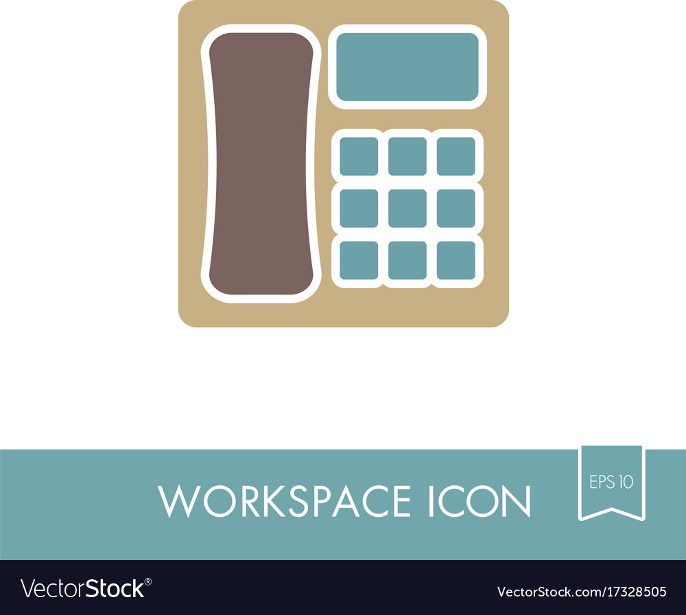 Phone outline icon workspace sign
