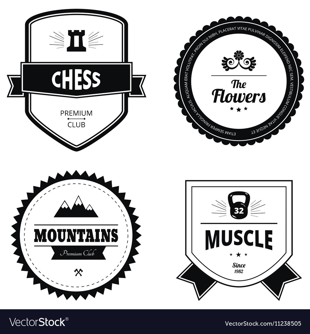 Set of retro logos
